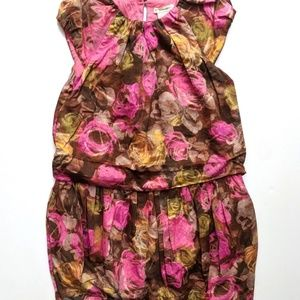 Crewcuts by J Crew Girls Ruched Floral Dress 6